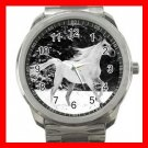 White Horse Running on Snow Silvertone Sports Metal Watch 259