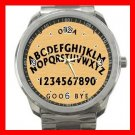 OUIJA BOARD Wooden Fun Silvertone Sports Metal Watch 262