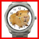 Guinea Pig Pet Animals Silvertone Sports Metal Watch 266