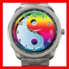 Ying Yang Rianbow Hobby Silvertone Sports Metal Watch 268