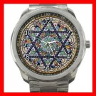 STAR OF DAVID JEWISH Silvertone Sports Metal Watch 271