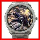Black Dragon On Rock Myth Silvertone Sports Metal Watch 278