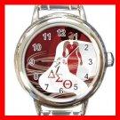 Delta Sigma Theta Round Italian Charm Wrist Watch 645