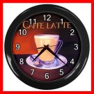 Caffe Latte Coffee Beverage Decor Wall Clock-Black 045