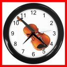Violin Music Instrument Hobby Decor Wall Clock-Black 049