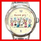 Thank You Teacher School Round Italian Charm Wrist Watch 649