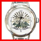 Egyptian Pyramids Ankh Eye Round Italian Charm Wrist Watch 651