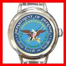 USA Department Of Defence Round Italian Charm Wrist Watch 654