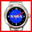 NASA Space Science Round Italian Charm Wrist Watch 663