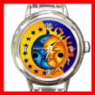Sun And Moon Round Italian Charm Wrist Watch 666