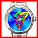 LGBT Rainbow Flag Gay Lesbian Pride Round Italian Charm Wrist Watch 668