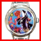 Mermaid Whale Fantasy Round Italian Charm Wrist Watch 679