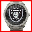 Oakland Raiders Silvertone Sports Metal Watch 32903587