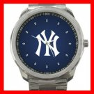 New York Yankees Silvertone Sports Metal Watch 32903596