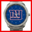 New York Giants Football Silvertone Sports Metal Watch 32903753