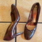 BANANA REPUBLIC BROWN SNAKESKIN/LEATHER DRESS SHOES