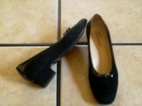 TROTTERS BLACK SUEDE/PATENT LEATHER BOW OXFORD SHOES