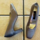 STUART WEITZMAN GRAY SATIN CLASSIC DRESS PUMPS SHOES