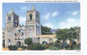 TX LN San Antonio Mission DeLa Purisima 1930-44