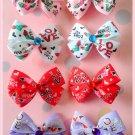 L-O-V-E Bitsy Bows (4 pairs)