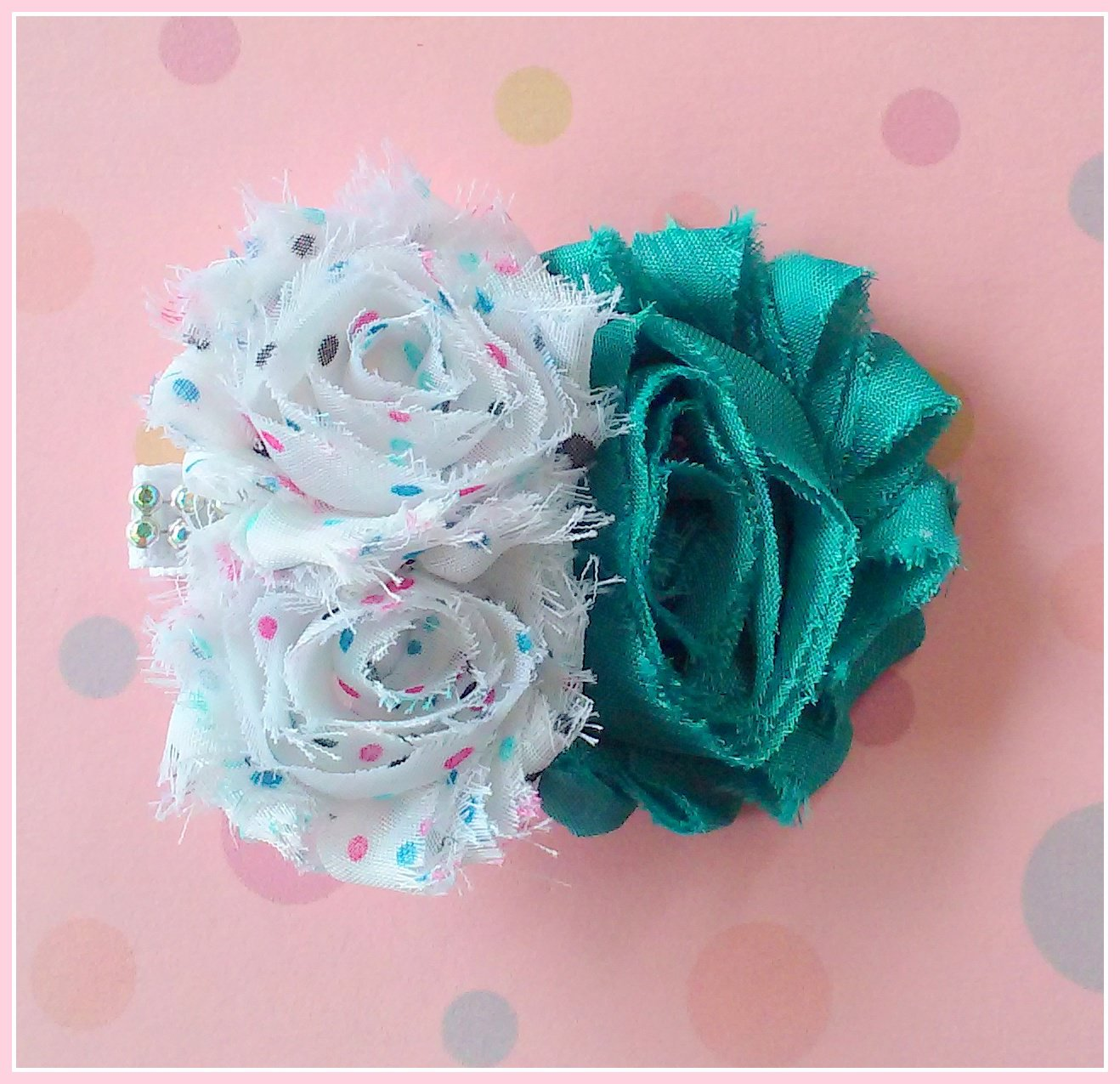 Sea Dots Flower Cluster Clip