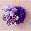 Plum Purple Flower Cluster Clip