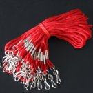 "High Quality 30"" I.D. Neck Lanyards  25 Pack - Red Color - Office Supplies"
