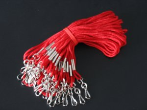 """High Quality 30"""" I.D. Neck Lanyards  25 Pack - Red Color - Office Supplies"""