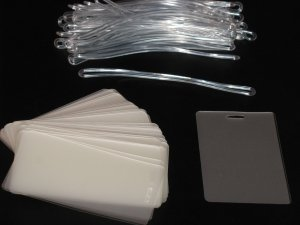 Laminating / Laminator Pouches Luggage Tag Pouches + Luggage Tag Loops 5 MIL 100 Pack