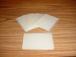 Military Card Size Laminating / Laminator Pouches 5 MIL - 100 Pack - Office Supplies