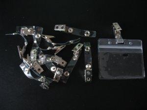 ZIP LOCK VINYL ID CARD / NAME TAG HOLDERS + I.D. BADGE CLIPS