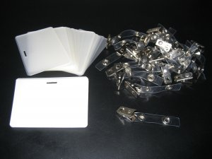 LAMINATING LAMINATOR I.D. POUCHES WITH SLOT + BADGE CLIPS