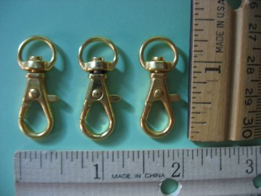 Lobster Clasp Clips With Swivel Snap Hook Gold Color