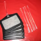 Genuine Black Leather Horizontal Travel Luggage Tags- Carry on Luggage I.D. Tags