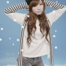 [RU-851776] White Top :|With Scarf|: