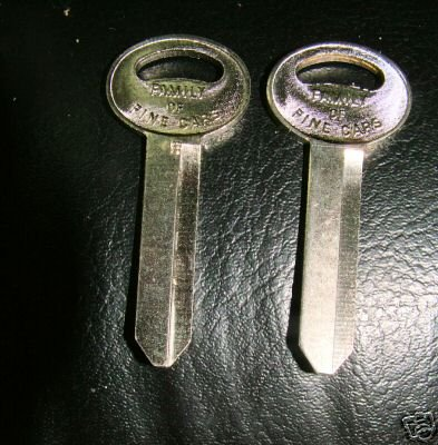 FORD GALAXIE LTD FAIRLAINE TRUNK KEY BLANK LOT OF 2