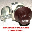 UNIVERSAL HEATER FAN SWITCH LIGHTED 12V CAR TRUCK ROD
