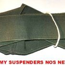 SUSPENDERS US ARMY OLIVE DRAB MILITARY SURPLUS NOS
