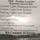 1968 LEMANS  EXTERIOR MOULDING TRIM SCREW KIT 25pcs