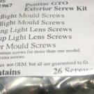 1967 PONTIAC GTO TRIM SCREWS EXTERIOR MOULDING 26pcs