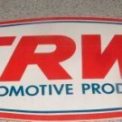 TRW STICKER NOS NEW ORIGINAL  3/4 x 3''  PLASTIC PEEL & STICK