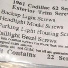 1961 CADILLAC SERIES 62 EXTERIOR TRIM SCREWS 22 PIECES