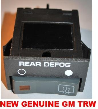 REAR WINDOW DEFOGGER SWITCH CHEVROLET GMC PICKUP 1994 1993 1992 1991 1990