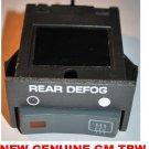 REAR WINDOW DEFOGGER SWITCH CHEVROLET GMC PICKUP 1994 1993 1992 1991 1990