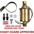 MARINE FUEL PUMP UNIVERSAL ELECTRIC 30gph 3psi-5psi LOW PRESSURE COAST GUARD APPROVED