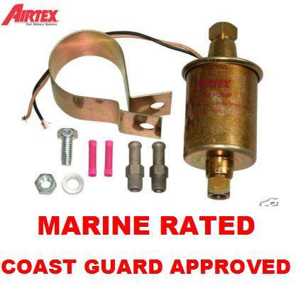 MARINE FUEL PUMP AIRTEX E8337 ELECTRIC UNIVERSAL INLINE 5psi -9psi  30gph COAST GUARD APPROVED
