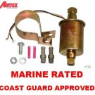 MARINE FUEL PUMP ELECTRIC UNIVERSAL INLINE 5psi -9psi  30gph COAST GUARD APPROVED
