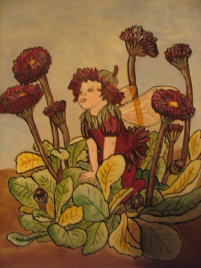 Flower Fairy acrylic painting