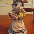 Hand Painted and Antiqued Bunny and Babies Figurine