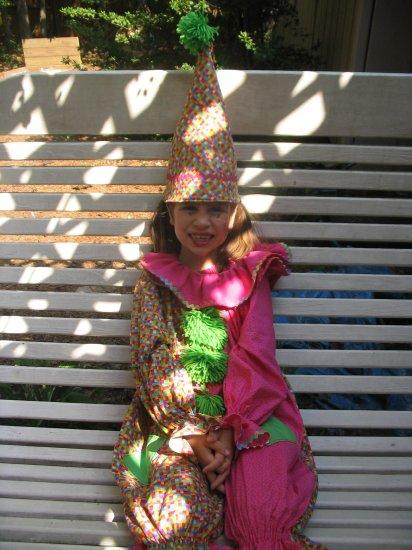 children's 3 piece clown costume/ dress up